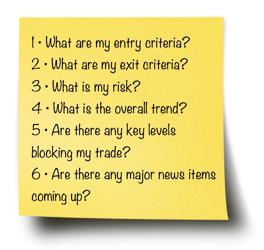 trade checklist